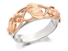 Rose gold and silver 'Tree of Life' #ring by @Clogau