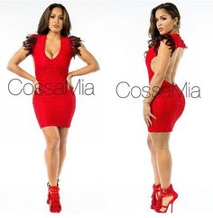 Rosa acostw red dress backless from cossamia