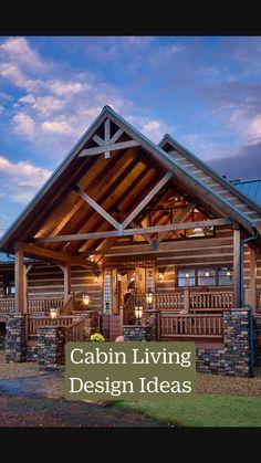 Small Rustic House, Small Log Cabin, Rustic House Plans, Rustic Cabin Decor, Tiny House Cabin, Log Cabin Homes, Modern Log Cabins, Log Cabin House Plans, Modern Cabin Decor
