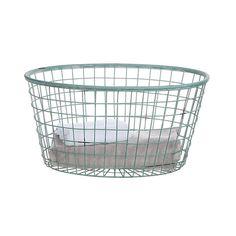 Wire Oval Basket in Blue | dotandbo.com