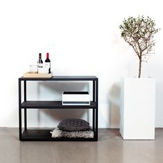 Garden sideboard from Röshults is a robust furniture in plated powder coated steel with same height and depth as the BBQ grills for perfect fitting. The sideboard provides a perfect workspace and storage for your outdoor cooking.