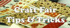 Craft Fair Tips & Tricks