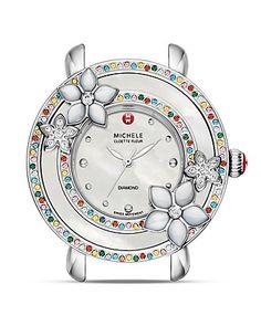 Michele Cloette Fleur Colored Stone Watch Head, 38mm | Bloomingdale's