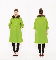 Lilli Ann Coat . Mink Fur Collar . 60s Designer by recollectvint, $120.00