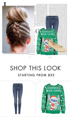 """""""Dear Santa"""" by ry-luve ❤ liked on Polyvore featuring Oris, 7 For All Mankind, Disney and Diba"""