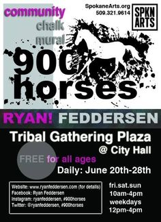 Spokane community art project, June 20-28th. #900horses