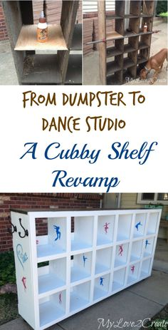 This piece went from a dumpster to a dance studio