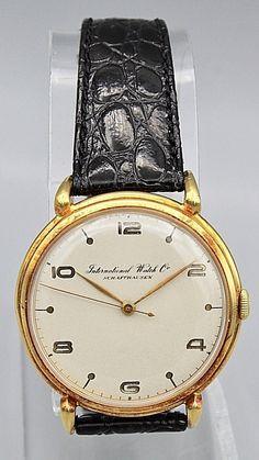 708cbb6a77b VINTAGE IWC SCHAFFHAUSEN 18K GOLD MEN S WATCH CALIBER 88 1940 S MANUAL WIND  Skeleton Watches
