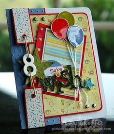cute cute kids bday card! Love the embellies here!