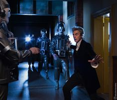 Guess who's back!  It's the original Mondasian Cybermen, returning for episodes 11 and 12 of the new series, alongside Peter Capaldi as the Doctor, Pearl Mackie as Bill Potts, Matt Lucas as Nardole and Michelle Gomez as Missy!  The episodes, written by Steven Moffat and directed by Rachel Talalay, are now filming in Cardiff.  #DoctorWho #whovian #behindthescenes