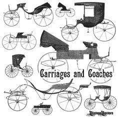 Vector Art: Old Carriages and Coaches – Free Carriage and Coach Vectors — Vintage Vectors
