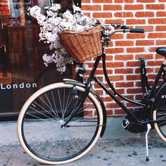 flowers, bike, and bicycle image Bicycle Basket, Cycle Chic, Bike Style, Vintage Bicycles, White Photography, Photography Flowers, Photography Tips, Photos, Tumblr