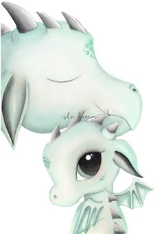Dex and Dad Print - Isla Dream Prints Cute Dragon Drawing, Dragon Sketch, Unicorn Drawing, Unicorn Art, Baby Dragon Drawings, Dragon Nursery, Whimsical Art, Whimsical Nursery, Nursery Art