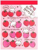 Pool Cool Berry Bunnies Mini Memo Pad