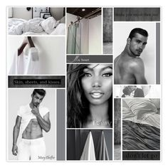 """""""Skin, sheets, and kisses. (read descript.)"""" by mcheffer ❤ liked on Polyvore featuring art, expression, collages, artexpression and MatchWorkCollageArtGroup"""