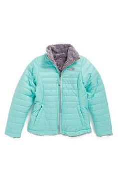 The North Face 'Mossbud Swirl' Reversible Water Resistant Jacket (Big Girls) available at #Nordstrom