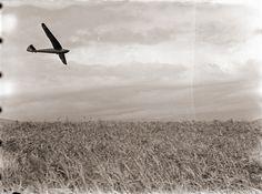 Sailplane in Flight, Japan 1930s.