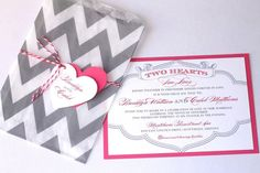 These are amazing Invitations!!!! I just Love the Chevron Bags to put the Invitations in!