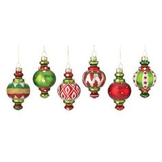 "2.75"", October Hill 6 Piece Finial Glass Ornament Set, Wal-Mart, $25.59 (2013)"