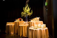 Buffet designed using variable table heights create interest by Inspired Grace Weddings  Carper Creative Photography  Tanarah Luxe Floral  Simply the Best Catering  Little Rock, Arkansas