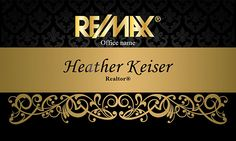 Remax gold logo Real Esate business cards - design# 101411 - Front