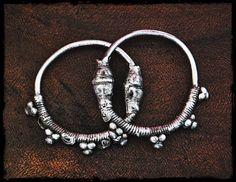 Antique Oman Bedouin Hoop Earrings Tribal Hoop by CosmicNorbu