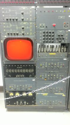 Old mainframe computer control panel