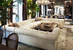 Restoration Hardware Living Room Couch - Restoration Hardware The Flatiron Gallery. Home Living Room, Living Room Furniture, Living Room Designs, Home Furniture, Living Room Decor, Furniture Design, Modern Furniture, Sofa Design, Interior Design