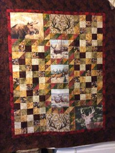 A hunting quilt for my brother's insulated tree stand (read man cave).