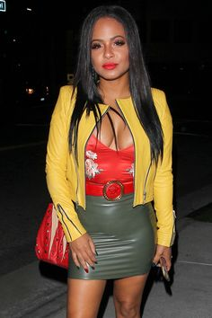66082311d4 Christina Milian  ChristinaMilian Leggy in Mini Skirt Il Pastaio Restaurant  in Beverly Hills 11
