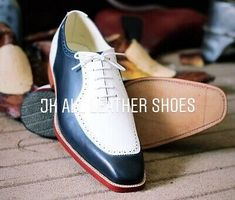 Details about Pure Handmade Blue & White Genuine Leather Lace up Shoes for Men's Leather Dress Shoes, Lace Up Shoes, New Shoes, Leather And Lace, Leather Men, White Leather, Nike Heels, Sneakers Nike, Best Shoes For Men
