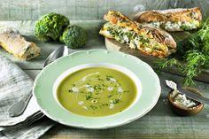 Brocollisoep met kruidenroomkaas en dille - Philips Chef !