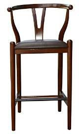 "Boraam 53029 29"" Wishbone Bar Stool, Walnut"