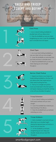 Chest and Tricep DB Workout. Click through - free resources and downloads.