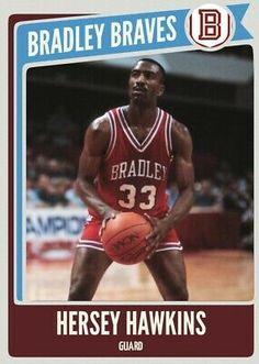 Hersey Hawkins, College Basketball, Custom Cards, Legends, Baseball Cards, Ebay, Personalized Cards, College Basket, Personalised Cards