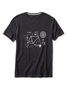 バイシクルパーツ グラフィックTシャツ