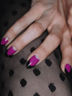 fantastic purple colorblock moon-mani. Is it weird that I know these are Jessie J's...?