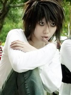 L (Death Note) oh my goodness! This is so good! Favorite character! Ahh I'm so happy!