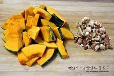 입에 살살 녹는 견과류 단호박조림 : 네이버 블로그 Cantaloupe, Food And Drink, Cooking Recipes, Fruit, Kitchens, Chef Recipes, Food And Drinks, Food Food