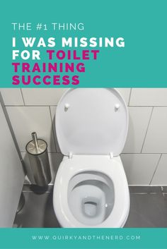 I have helped dozens of kids learn to use the toilet. So why was it so hard with my own kid? Once I realized the problem, boy was I surprised! Read about what it was and the one thing that helped me solve the problem. quirkyandthenerd.com