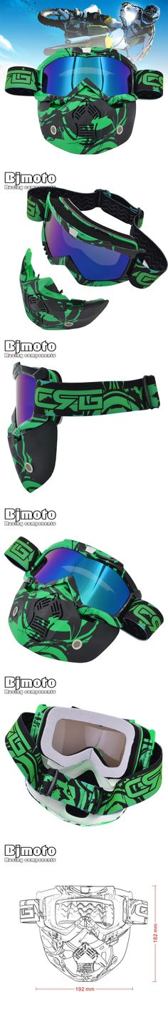 BJMOTO New CRG Motorcycle Helmet Mask Detachable Goggles And Mouth Filter for Modular Open Face Moto Vintage Helmet Mask