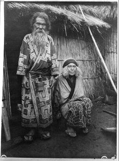 """TITLE: Ainus, 1908? Photoprint by Arnold Genthe. Probably taken on Hokkaido, Japan, during Genthe""""s 1908 visit there."""