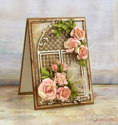 Rose and chipboard. Tutorial Klaudi.