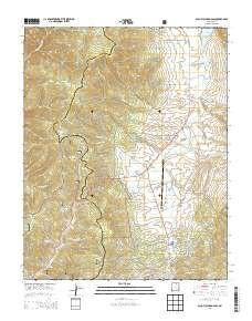 ~ Palo Flechado Pass NM topo map, 1:24000 scale, 7.5 X 7.5 Minute, Historical, 2013