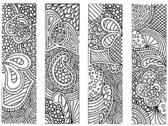 This beautiful graphic can be colored in with any media and used as a custom bookmark.