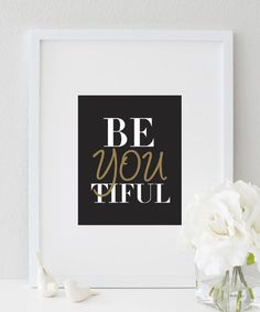 BeYOUtiful (black) print