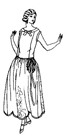 Past Patterns: #4526: Ladies' Dress with Full Straight Skirt: Circa 1922-1923