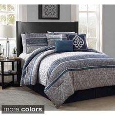Simon 7-piece Polyester Comforter Set | Overstock.com Shopping - The Best Deals on Comforter Sets