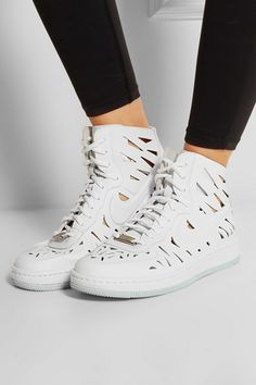 Nike | Air Force 1 Ultra Force cutout leather sneakers | NET-A-PORTER.COM