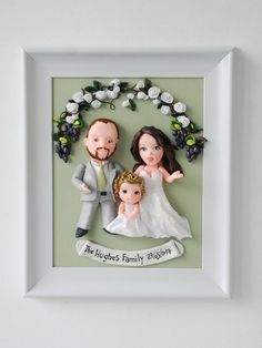 Your place to buy and sell all things handmade First Wedding Anniversary Gift, Boyfriend Anniversary Gifts, Gifts For Fiance, Dog Mom Gifts, Unique Gifts Family, Large Family Portraits, Polymer Clay Disney, Family Sculpture, Fathers Day Art
